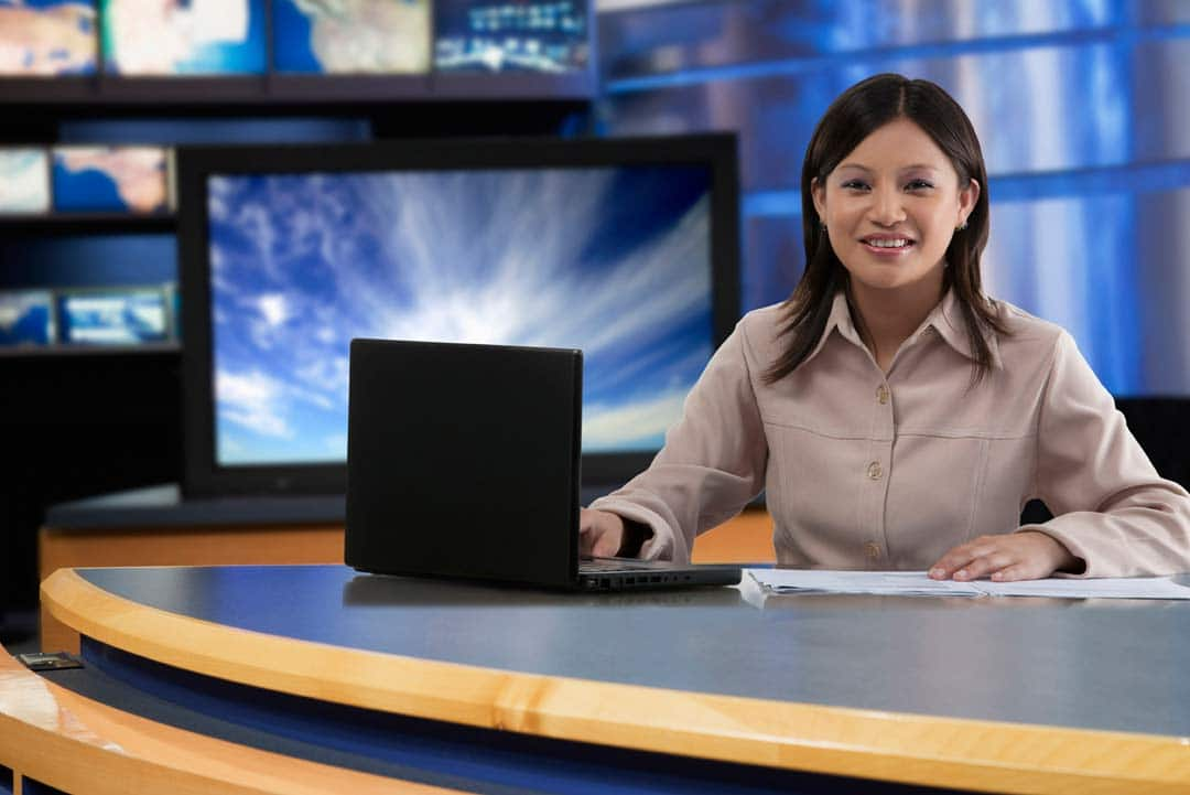 webcasting the news with video wall